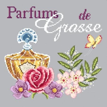 Grille point de croix - Parfum de Grasse - Passion Bonheur