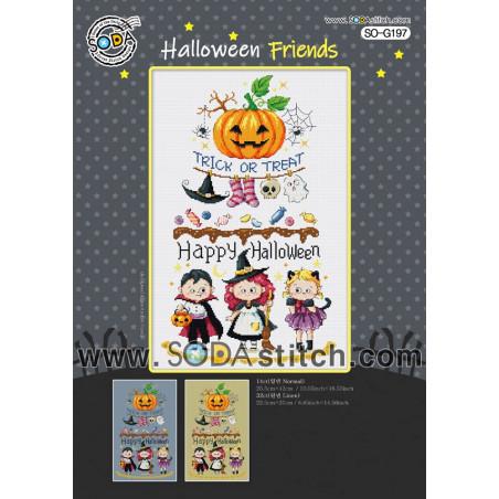Grille point de croix - Halloween Friends - Soda Stitch