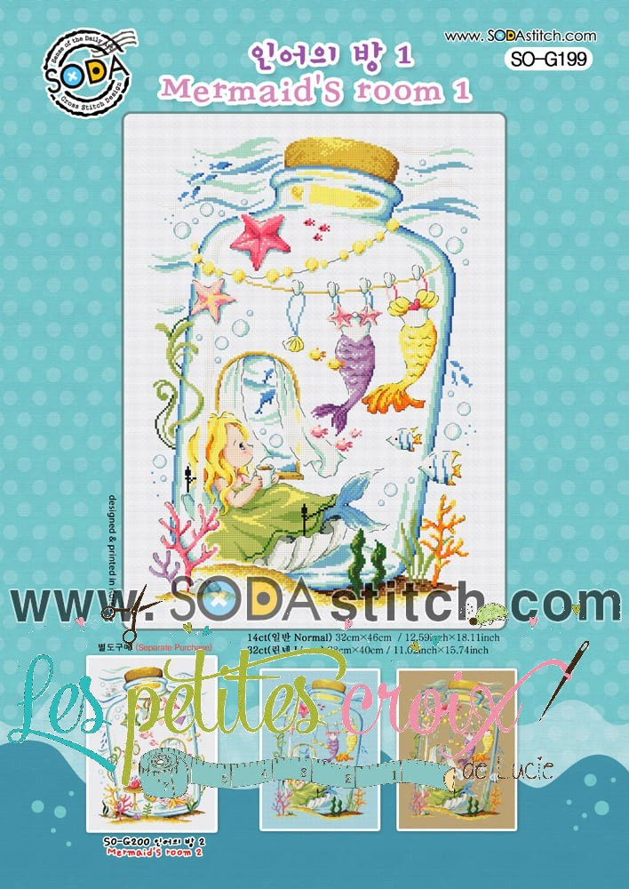Grille point de croix - Mermaid's room - Soda Stitch