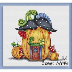 Grille point de croix - Maison de citrouille - Sweet Annet