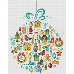 Grille point de croix - Boule de Noël 2021 - Les petites croix de Lucie