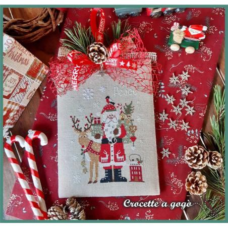 Grille point de croix - Père Noël 2021 - Crocette a Gogo